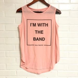 Hard Rock Medium Pink Tank 'I'm With the Band'